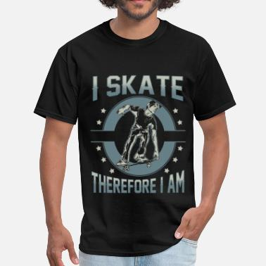 Nude Skating Skater - I skate therefore I am - Men's T-Shirt