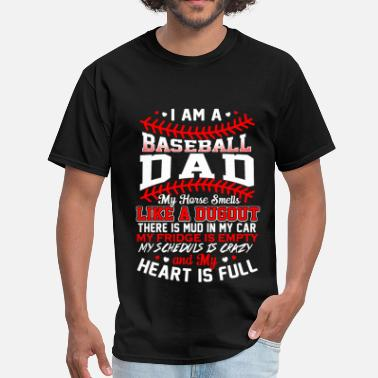 I Love Baseball Baseball dad - My heart is full awesome t-shirt - Men's T-Shirt