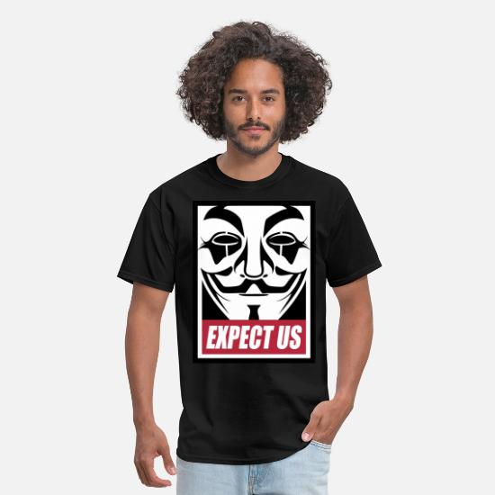 Geek T-Shirts - Anonymous Expect us - Men's T-Shirt black