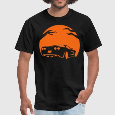 Halloween Pumpkin Car - Men's T-Shirt