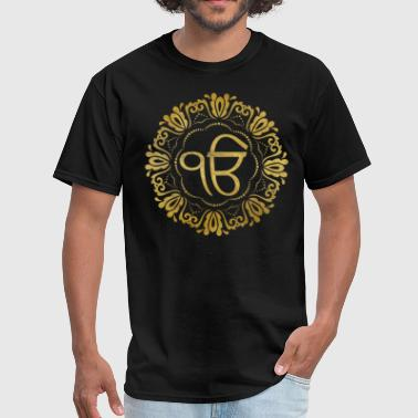 Decorative gold Ek Onkar / Ik Onkar  symbol - Men's T-Shirt