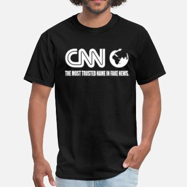 Donald Trump Pussy CNN Fake News Network Funny Tabloid Lying Corrupt - Men's T-Shirt