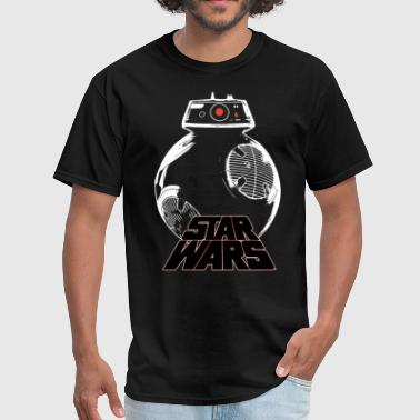 Fuck War Star Wars Last Jedi BB 9E Droid Outline star war t - Men's T-Shirt