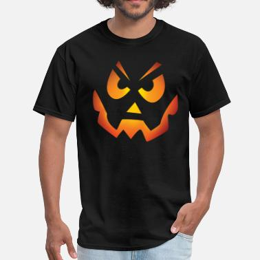 Evil Pumpkin Face Evil Pumpkin - Men's T-Shirt