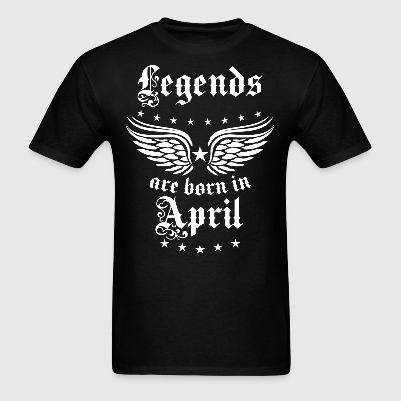 04 Legends are born in April Happy Birthday - Men's T-Shirt