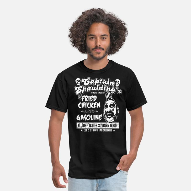 Funny T-Shirts - Captain Spaulding's Fried Chicken And Gasoline - Men's T-Shirt black