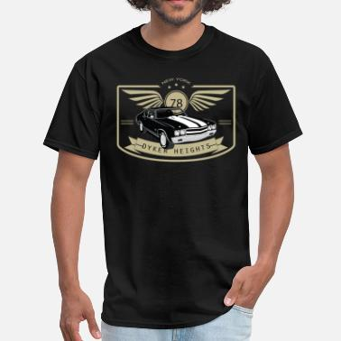 Brooklyn Heights Dyker Heights Muscle Car - Men's T-Shirt