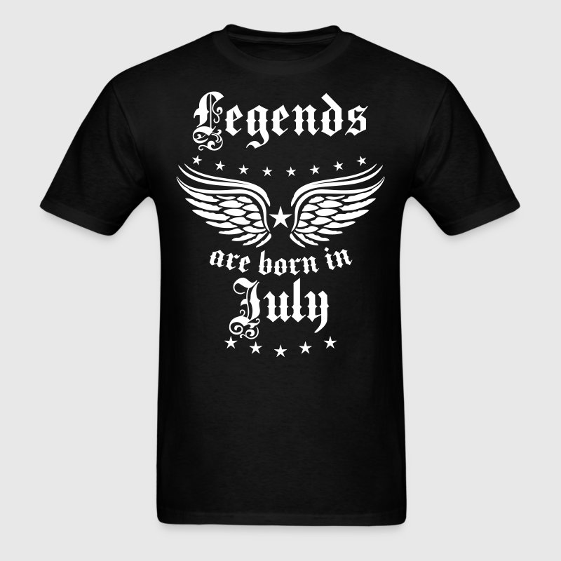 07 Legends are born in Jule Happy Birthday - Men's T-Shirt