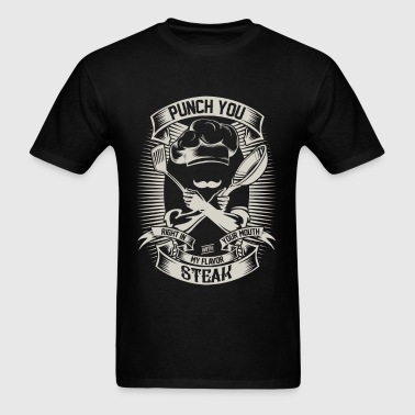 Badass chef - Punch you right in your mouth - Men's T-Shirt