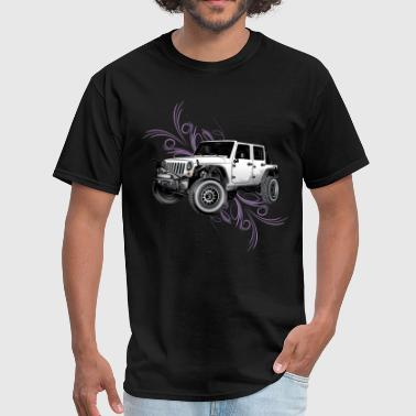 Jeep Wrangler White Tribal - Men's T-Shirt