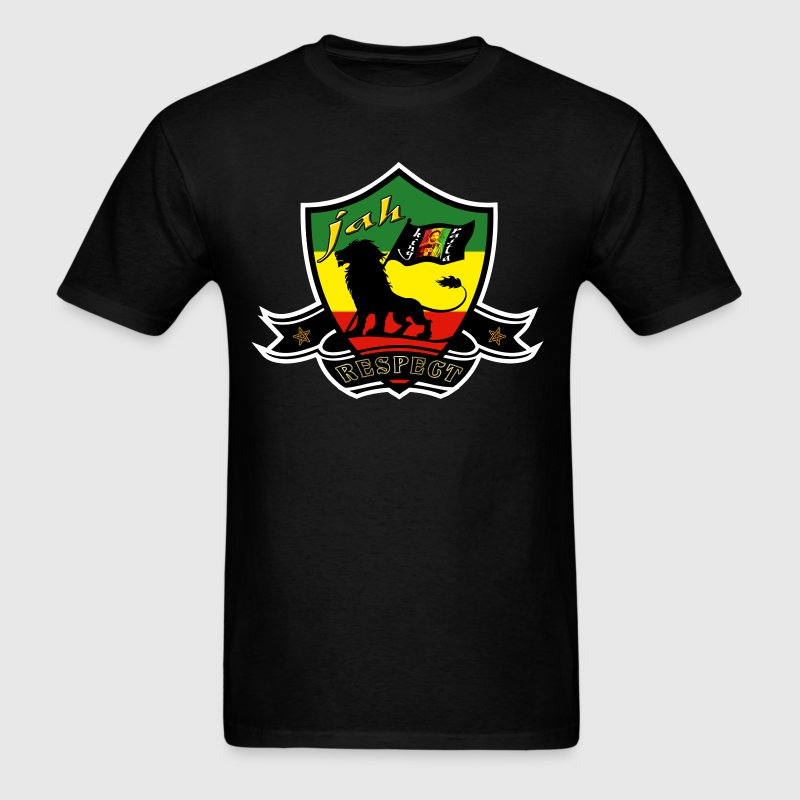 jah king rasta respect - Men's T-Shirt