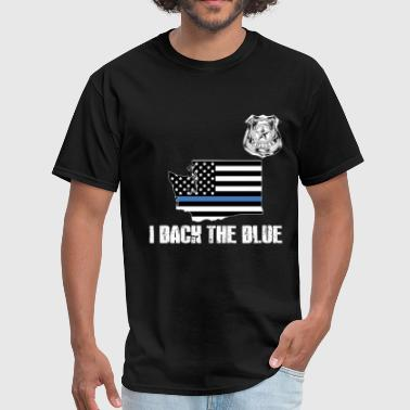 Washington Police Appreciation Thin Blue Line I Back The Blue - Men's T-Shirt