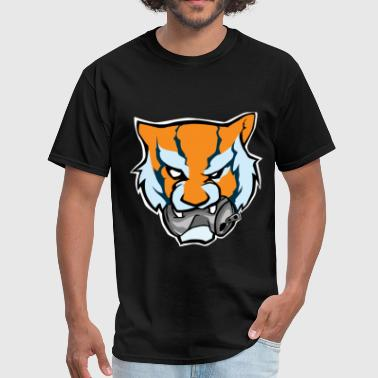 Custom Original Tiger Head Bitting Beer Can Orange - Men's T-Shirt