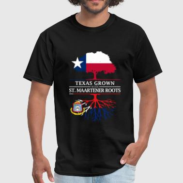St Maarten Texan Grown with Sint Maartener Roots - Men's T-Shirt
