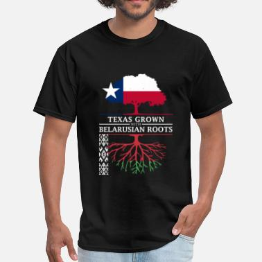 Belarusian Texan Grown with Belarusian Roots - Men's T-Shirt