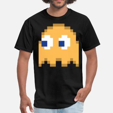 5aa5ce3e Pac Man Orange Pixel Man Halloween Ghost Easy Costume 3 of 4 - Men'. Men's  T-Shirt