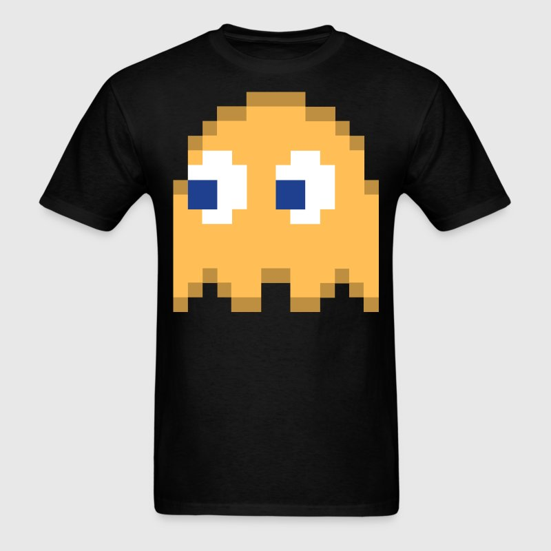Orange Pixel Man Halloween Ghost Easy Costume 3 of 4 - Men's T-Shirt