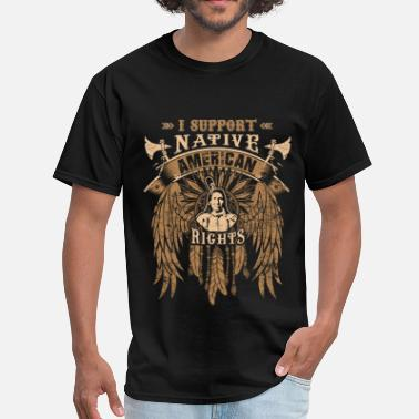 Native American Falcon I support native american rights - Men's T-Shirt