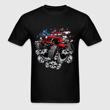 Jeep Wrangler Crawler Red - Men's T-Shirt