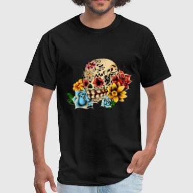 Sugar Skull Flowers - Men's T-Shirt