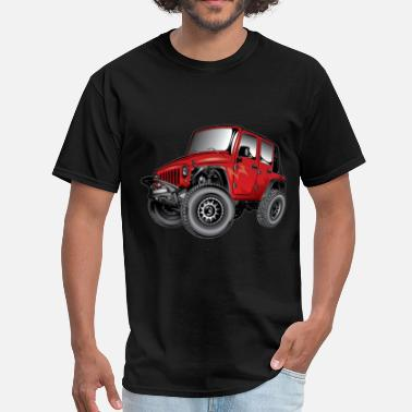 Wrangler Jeep Wrangler Cartoon Red - Men's T-Shirt