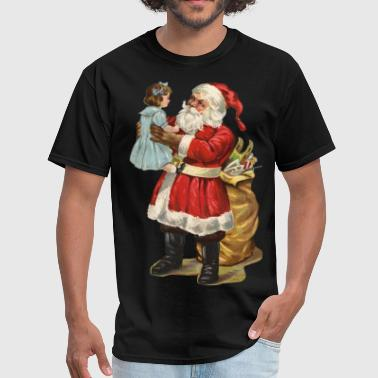 I heart Christmas Santa Claus candy cane snowman - Men's T-Shirt