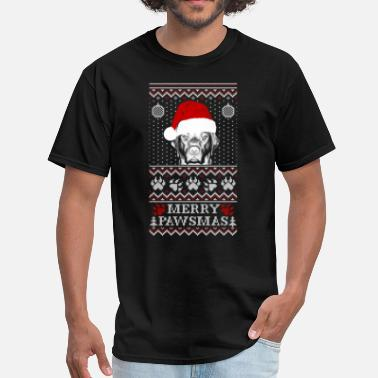 Dog Christmas Cards Dog Pawsmas Meowy Christmas - Men's T-Shirt