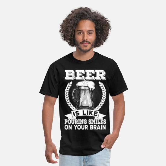 Bachelor T-Shirts - Beer-smiles on your brain - Men's T-Shirt black