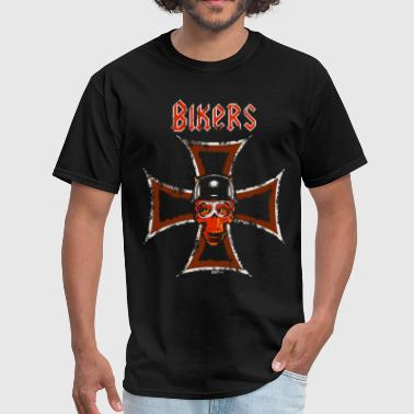 Biker's Cross - Men's T-Shirt