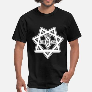 Aleister Crowley BABALON STAR SEAL - THELEMA, OCCULT - Men's T-Shirt