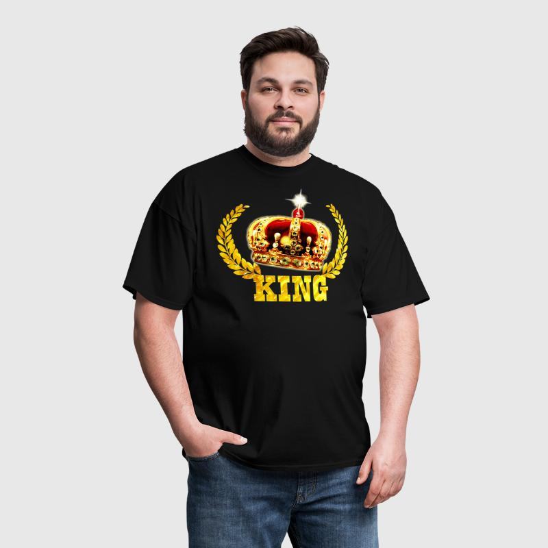 01 King Birthday Prince Crown Luxury Golden Gold - Men's T-Shirt