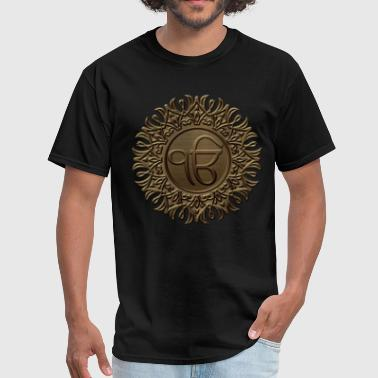 Decorative Ek Onkar / Ik Onkar  embossed on gold - Men's T-Shirt