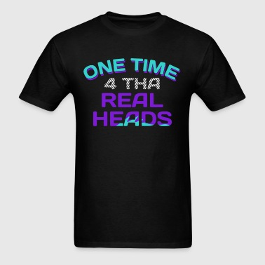 One Time 4 Tha Real Heads Jordan 5 Grapes Graphics - Men's T-Shirt