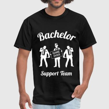 Bachelor Game Over Support Team (Stag Party / 1C) - Men's T-Shirt