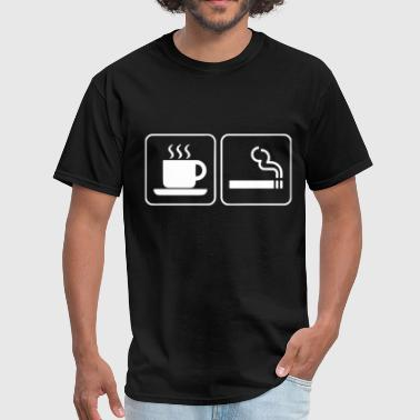 Coffee And Cigarettes Caffeine Nicotine Smoking Ho - Men's T-Shirt