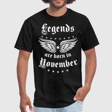 11 Legends are born in November Happy Birthday - Men's T-Shirt