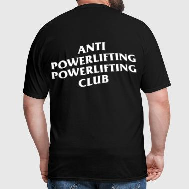 anti social social club powerlifting club black - Men's T-Shirt