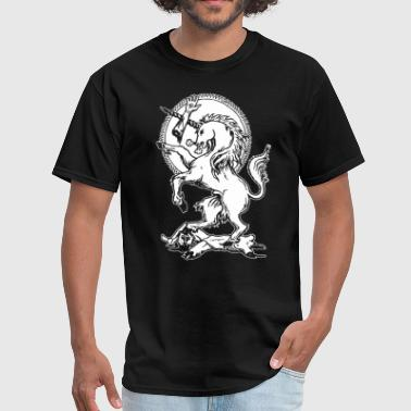 Wrathful Unicorn Vengeful Deadly Mythical Beast Vi - Men's T-Shirt