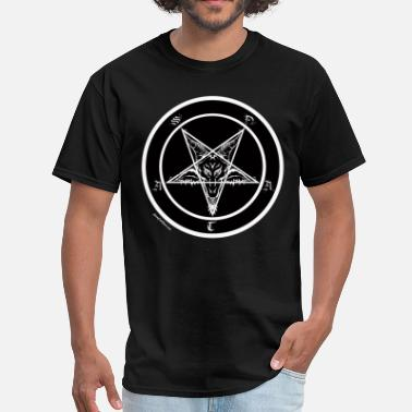 Black Metal Sigil of Baphomet Pentagram - Men's T-Shirt