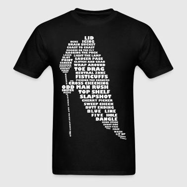 Language of Hockey (white print) - Men's T-Shirt