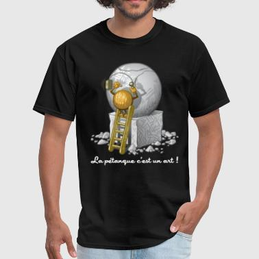 Petanque is art - Men's T-Shirt