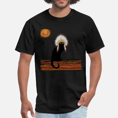 The Chief Cat little Indian chief kitty cat  - Men's T-Shirt