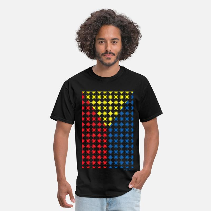 Manny T-Shirts - Philippines Filipino Sun Flag by AiReal Apparel - Men's T-Shirt black