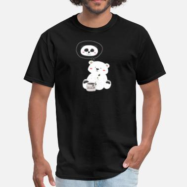 Panda Teddy Teddy Bear paint to Panda - Men's T-Shirt