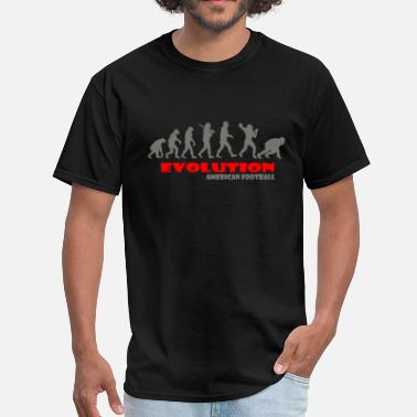 American Football American football ape of Evolution - Men's T-Shirt