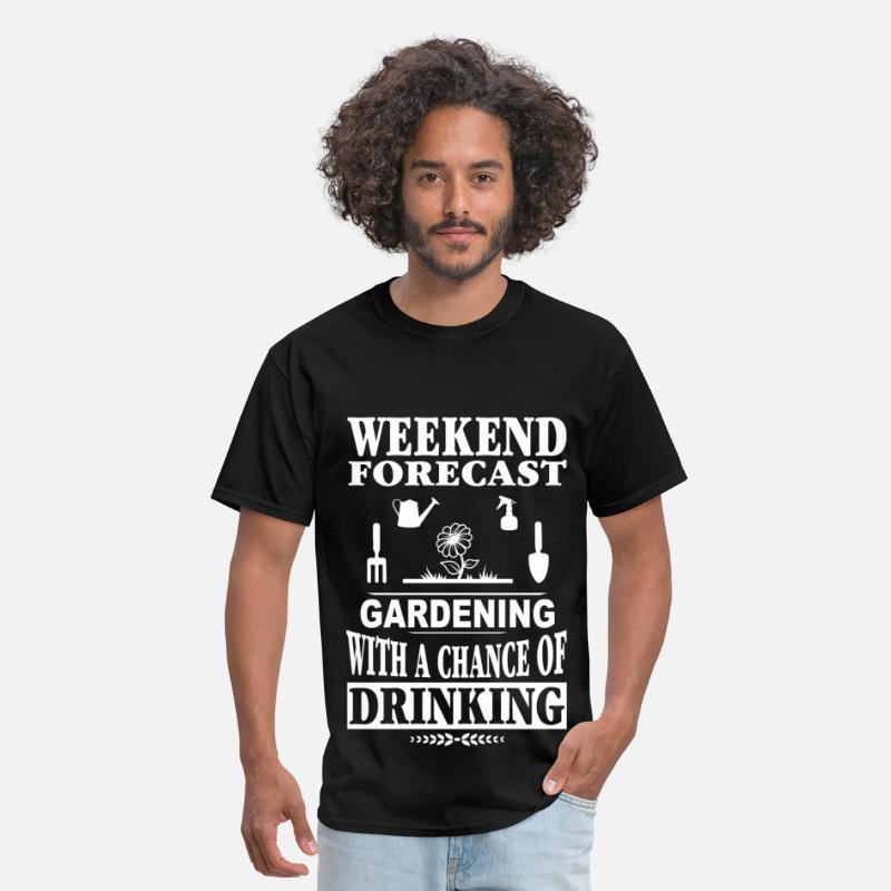 Blume T-Shirts - Gardener - Gardening with a chance of drinking - Men's T-Shirt black