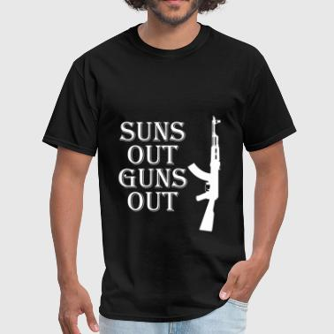 Ak Sport Suns Out Guns Out Gun Controll Gift AK 47 - Men's T-Shirt