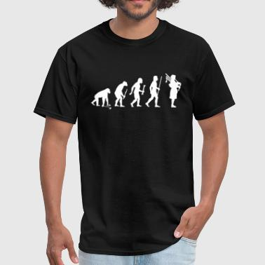 Evolution of Bagpipes - Men's T-Shirt