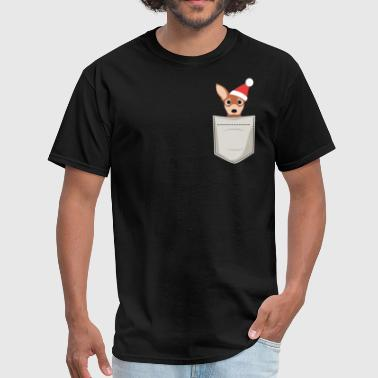 Chihuahua Puppy Santa Christmas - Men's T-Shirt