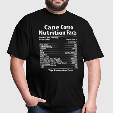 Cane Corso Dog Nutrition Facts T-Shirt - Men's T-Shirt